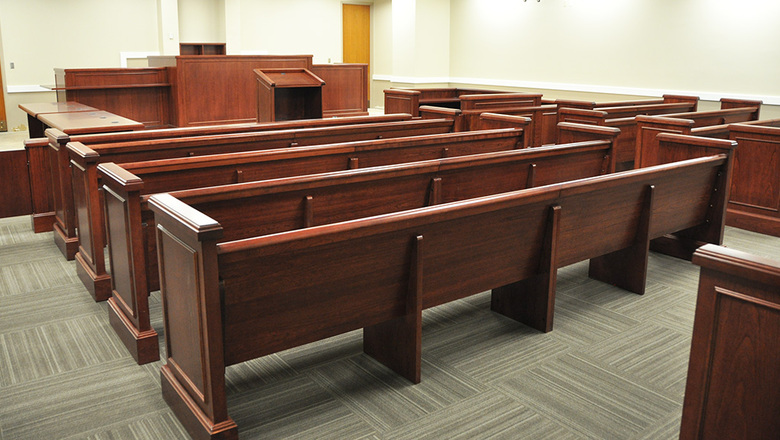 Courtroom spectator seating 1