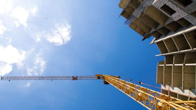 Tower crane at a construction site
